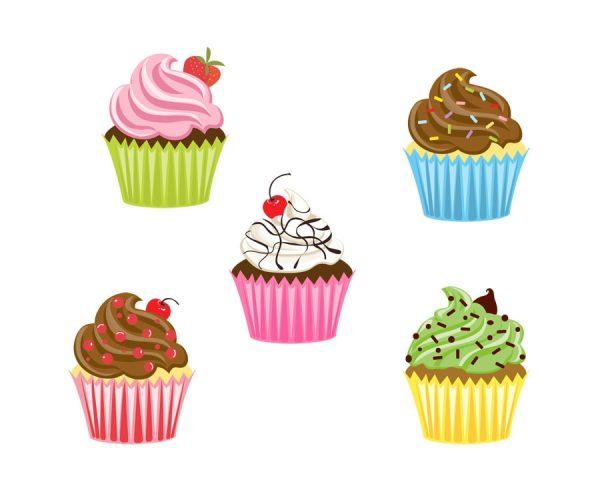 cupcake clipart digital scrapbooking