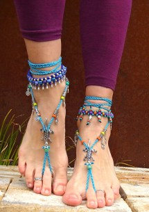 Beaded Barefoot Sandals Crochet Pattern