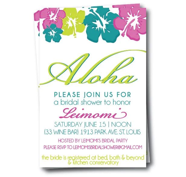 hawaiian party invites