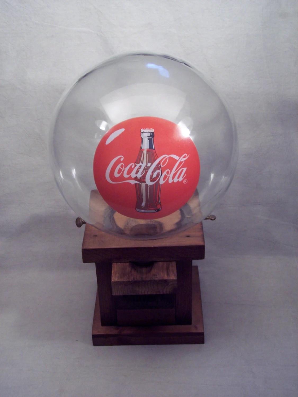 Wood Wooden Coca Cola Gum Ball Gumball Machine Dispenser