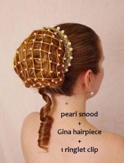 renaissance pearl snood hair net