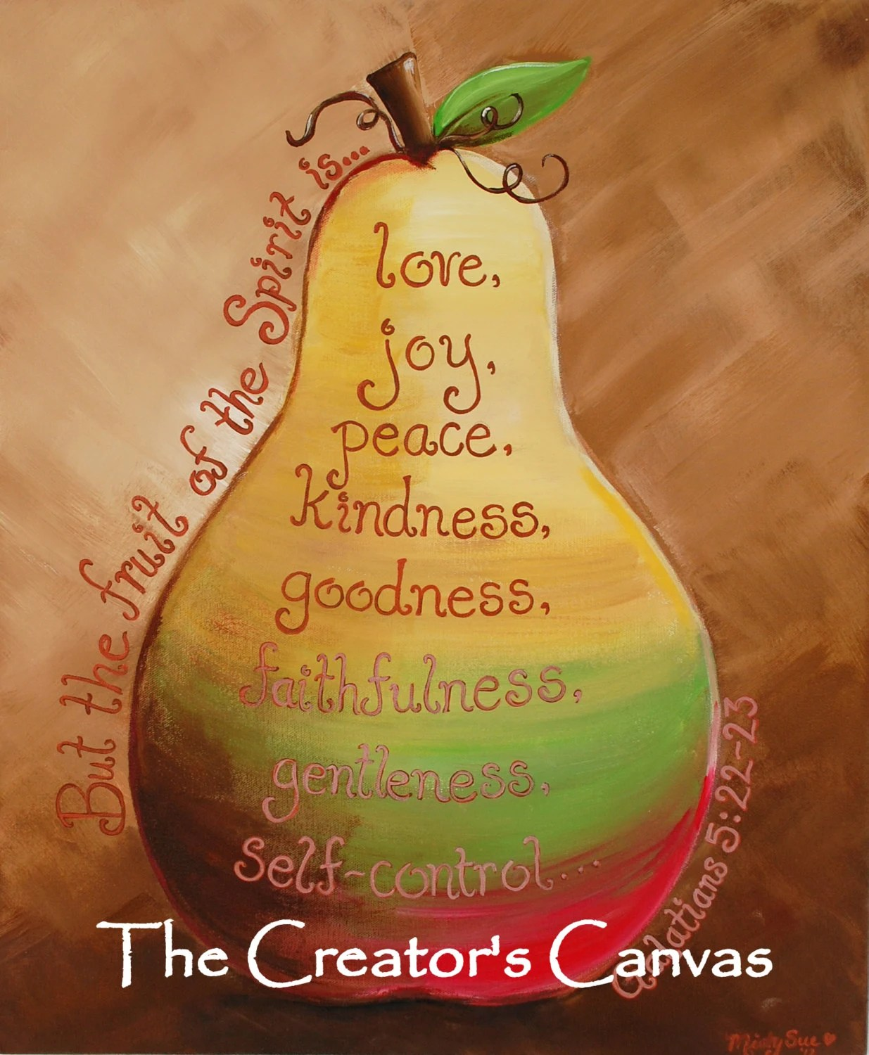 Fruit Of The Spirit Original Painting Scripture Bible Verse