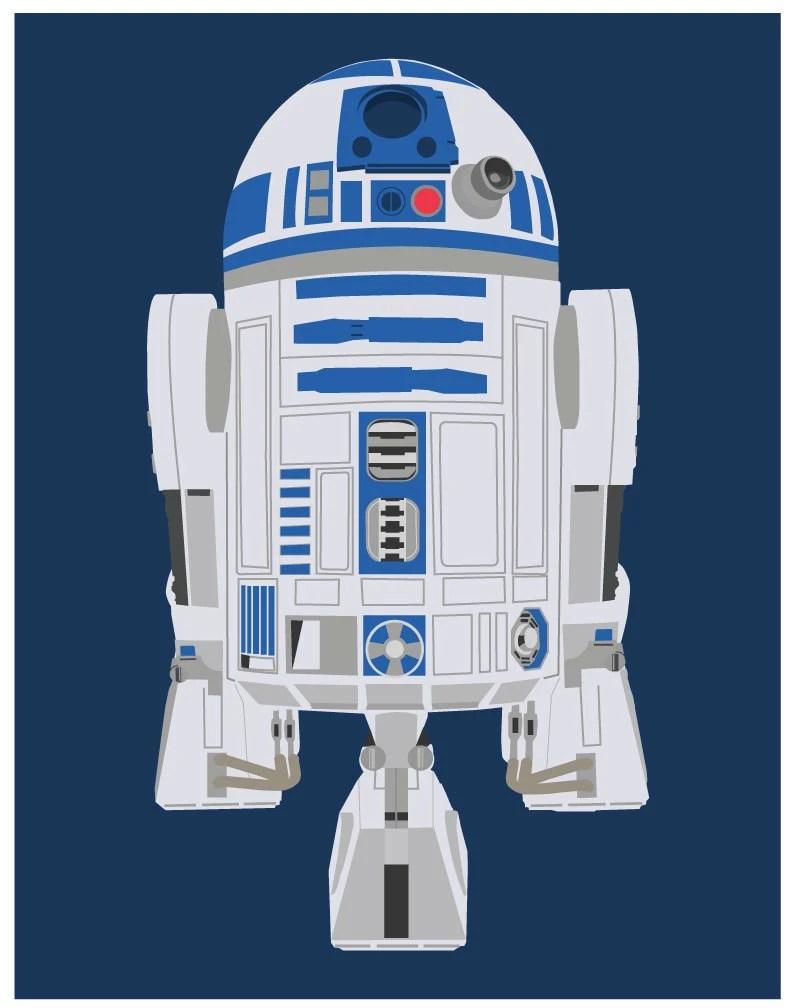 Star Wars 11x14 Poster R2D2 Star Wars Poster R2D2 Print