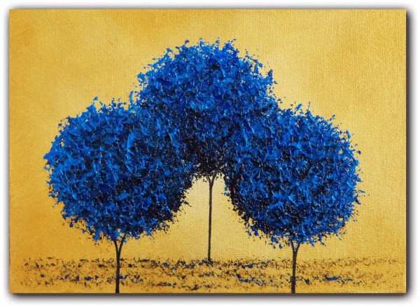 Blue Tree Abstract Art Painting