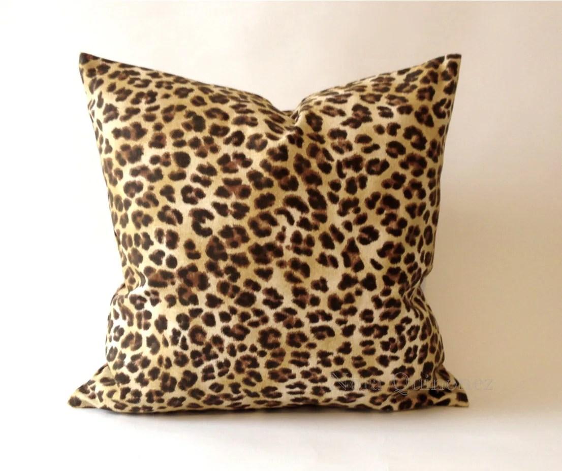 20x20 Leopard Print Decorative Pillow Cover Medium Weight