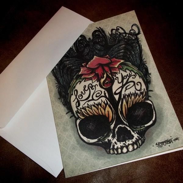 Gothic Rose Anniversary Love Card Romantic