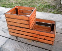 Reclaimed Wood Patio Planter Wooden Crate Style Box Home