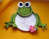 Crochet Frog Coasters Pattern, DIY - MonikaDesign