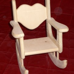 American Doll Chair Brown Office Unfinished Rocking For Girl Size By Judy