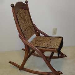 Old Fold Up Rocking Chair Stair Elevator Lift Civil War Folding
