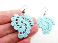 PDF Tutorial Crochet Pattern...Dangle Earrings 20