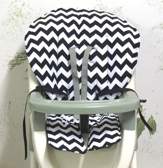 graco high chair cover replacement chiavari cushions pad black and white