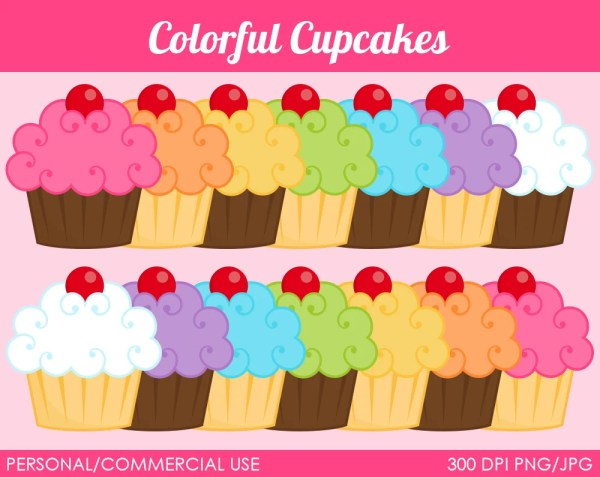 > colorful cupcakes