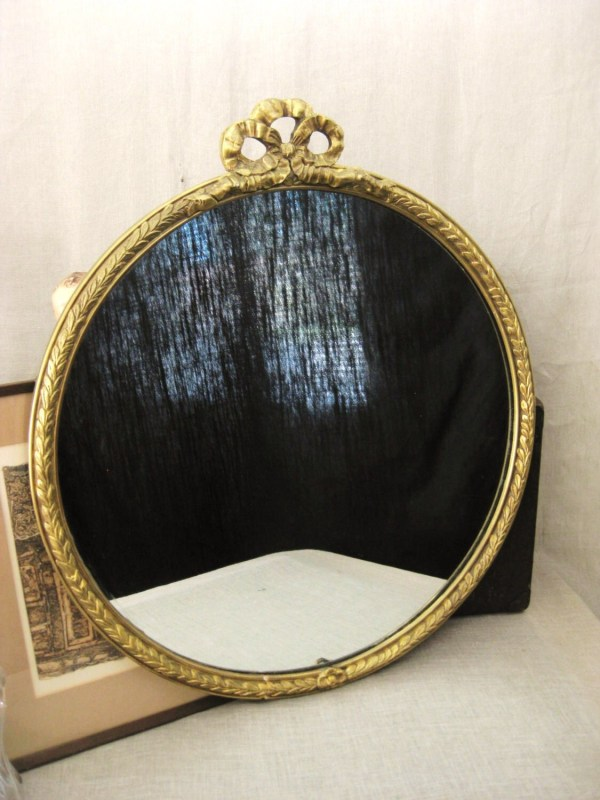 Antique Round Wood Mirrors