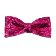 hot pink glitter pinup bow rockabilly