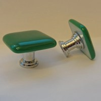 Fused Glass Knobs Jade Colored Cabinet Knobs Cupboard Pulls
