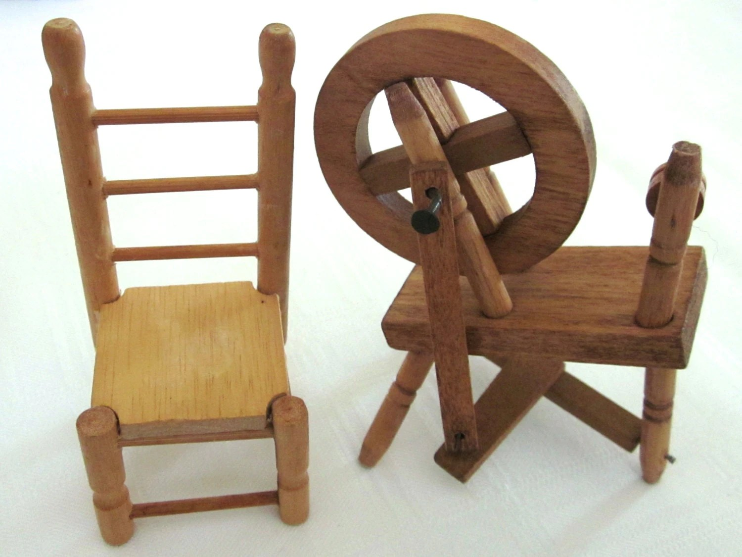 Spinning Chair Vintage Dollhouse Miniature Spinning Wheel And By Jewelryannie