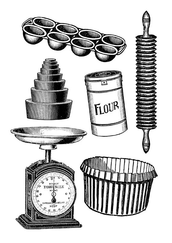 european kitchen gadgets cabinets pittsburgh items similar to baking art print - cooking ...