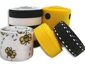 Ribbon Mix - BUZZIN' AROUND - Black & Yellow - Ribbon Lot - 10 Yards - TheRibbonRetreat