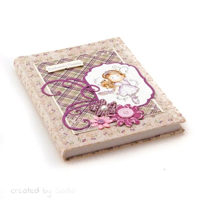 journal with fabric handmade cover - sadilla