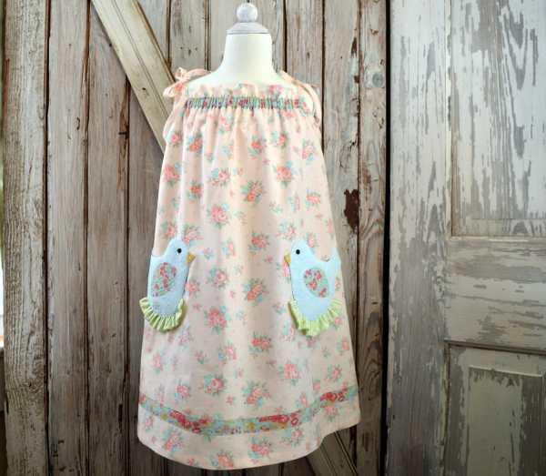 Pretty Bird Pocket Easter Dress Pattern Pdf. Sewing