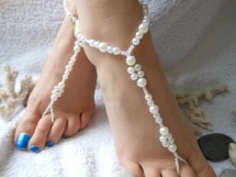 Beach Wedding Barefoot Jewelry Sandals