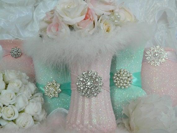 Wedding Centerpiece Wedding Decorations Pink Shabby By
