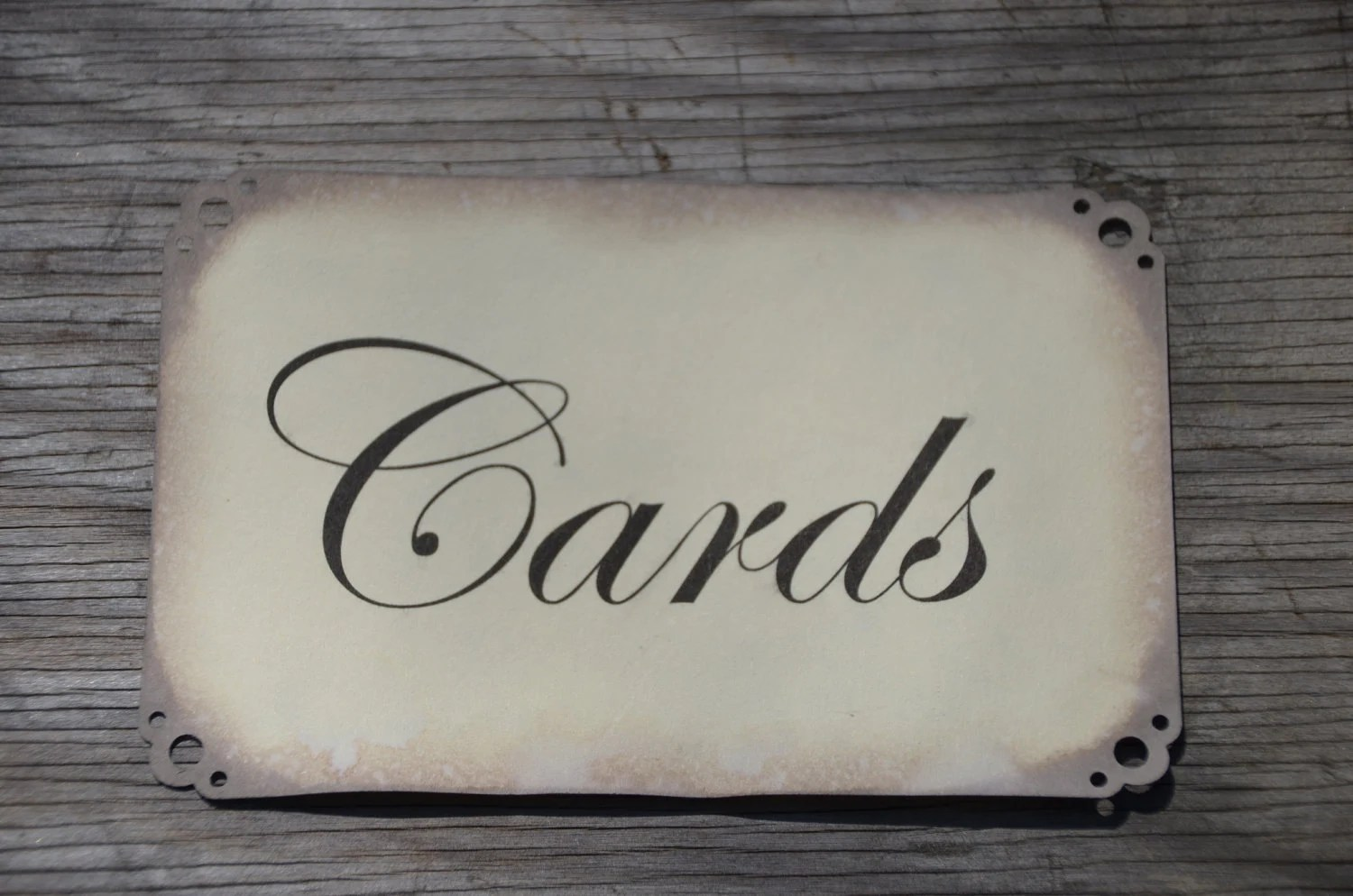 Items similar to Antiqued Cards Sign for wedding card box  card sign birdcage  suitcase cards