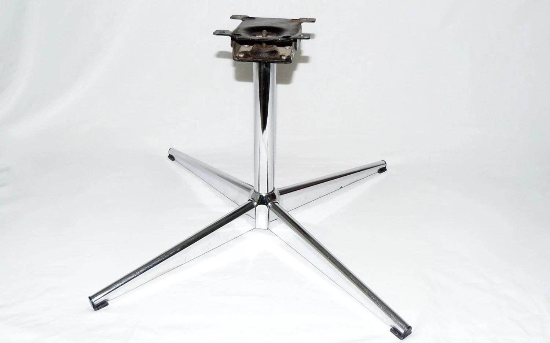 swivel chair base replacement makeup artist folding original chromcraft chrome