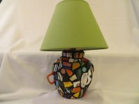 mosaic lamp made from recycled materials by JulieMayfieldHome