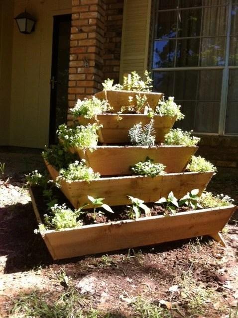 assembled pyramid planter herb