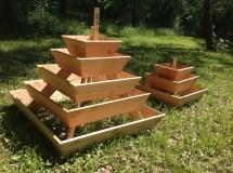 Pyramid Planter 3 Tier. Herb Garden Strawberry