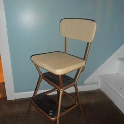 Vintage Cosco Step Stool Chair Wheelchair Vans Of Florida Beige Kitchen With Flip Up Seat