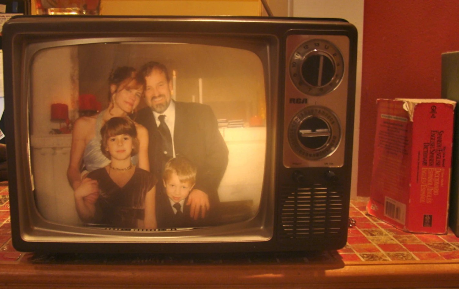 Recycled Vintage TV Lamp 1980s RCA Television by