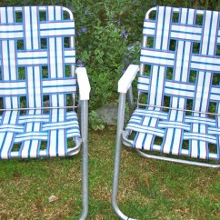 Webbing For Aluminum Folding Chairs Oly Studio Hanna Chair Lawn Webbed Rv Matching Pair Red