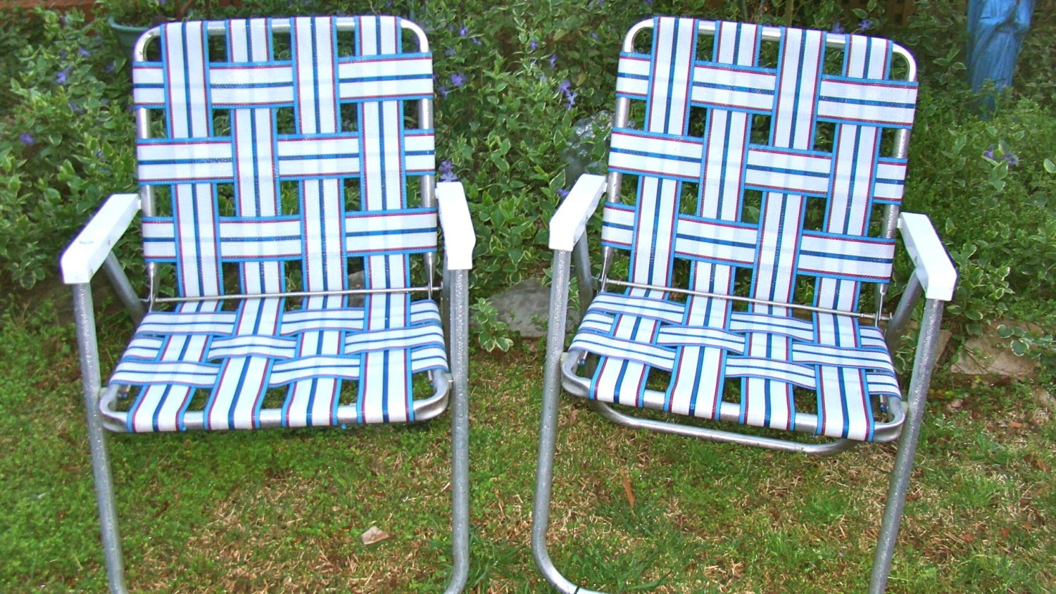 Aluminum Lawn Chairs Aluminum Lawn Chairs Folding Webbed Rv Matching Pair Red
