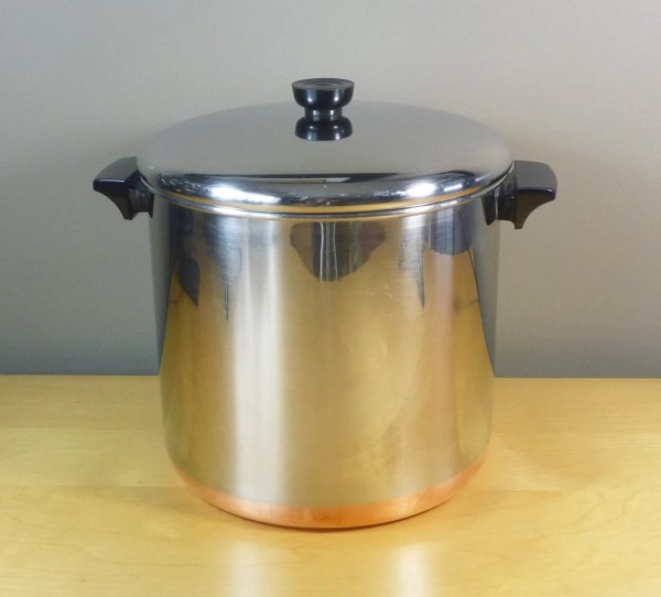 Revere Ware 12 Qt Stock Pot With Copper Bottom