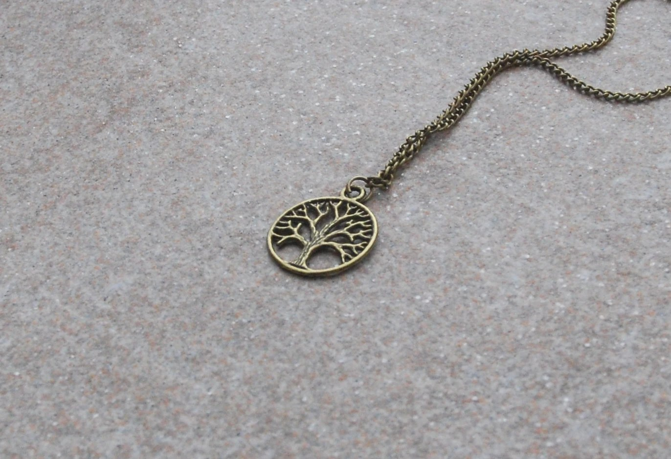 Necklace Nature Bronze Tree Necklace Tree of by