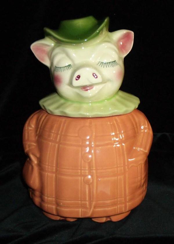 Winnie Pig Cookie Jar With Bank Head Vintage 1940 Shawnee