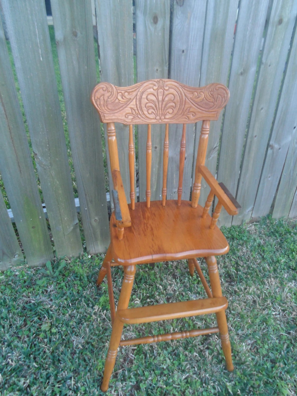 retro high chairs babies ergonomic executive chair vintage oak baby
