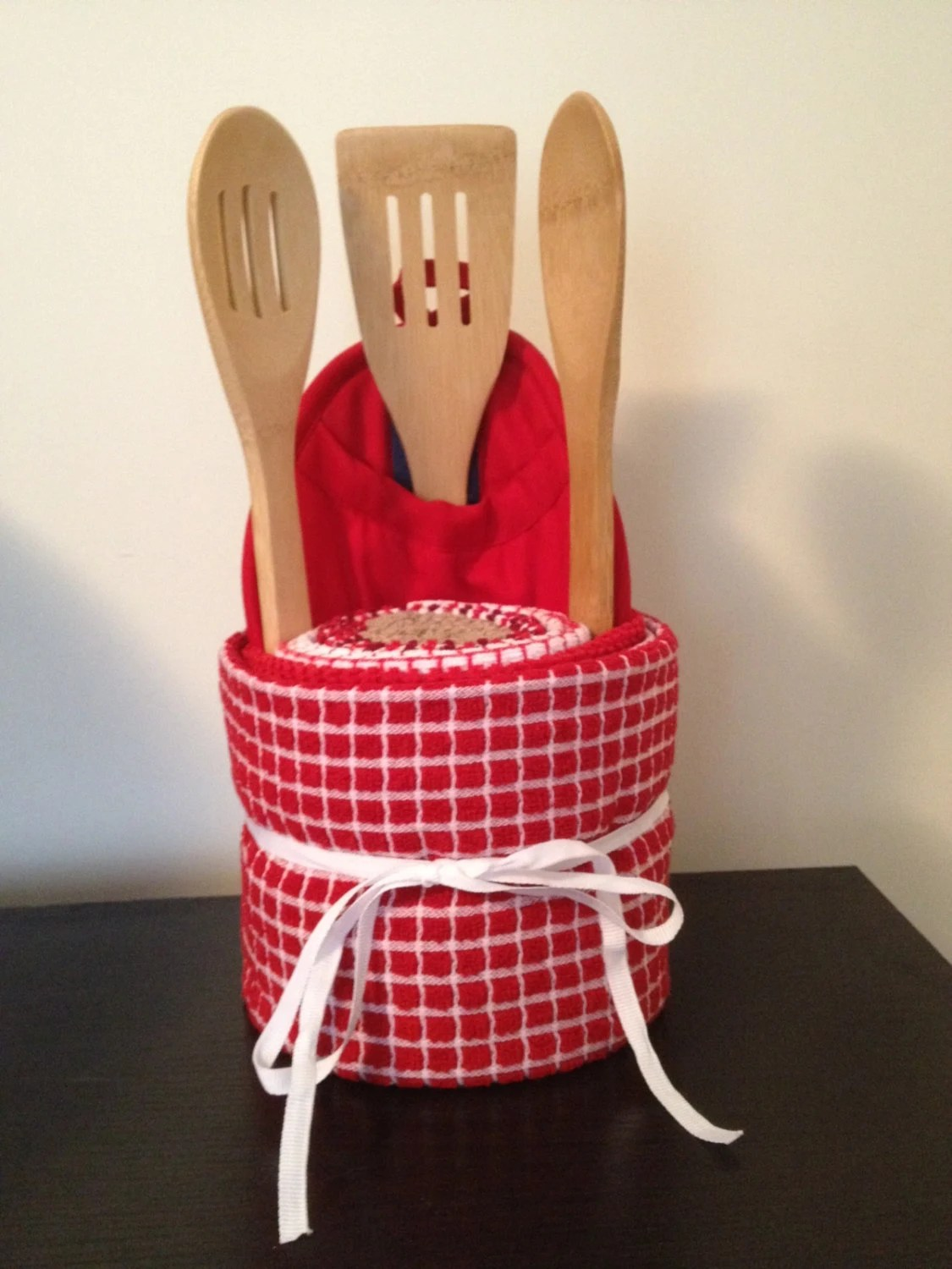 Items similar to Kitchen Towel Cake Engagement Gift Housewarming Gift Mothers Day Present