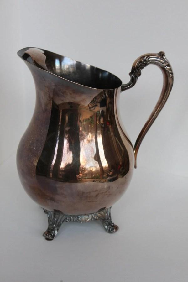 Vintage Rogers Silver Pitcher Water Vase