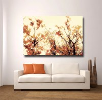 Items similar to Large Orange Wall Art, Canvas Gallery ...