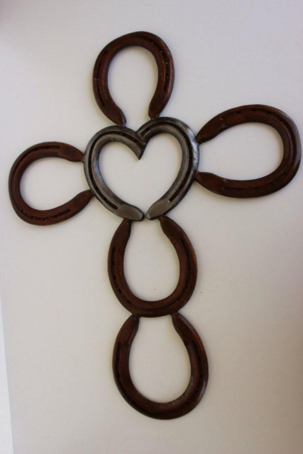 Heart Horseshoe Cross Willcapps