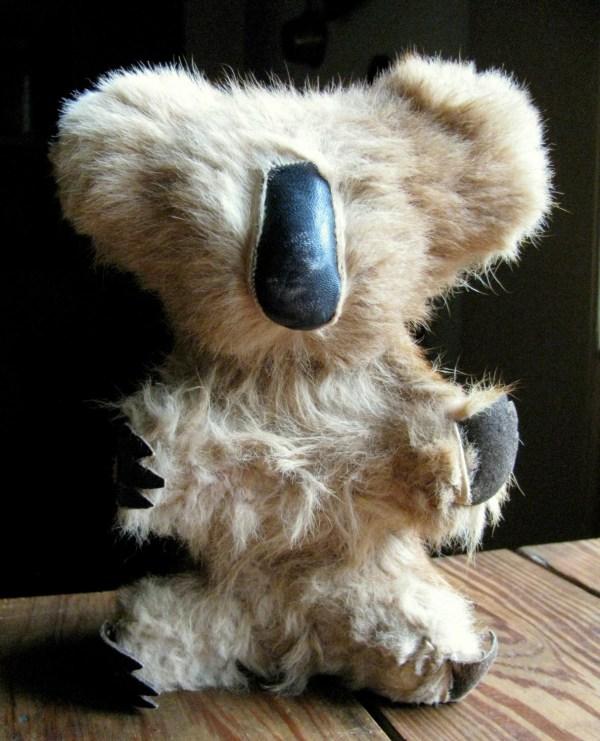 Vintage Koala Bear Stuffed Animal Toy Kangaroo Fur