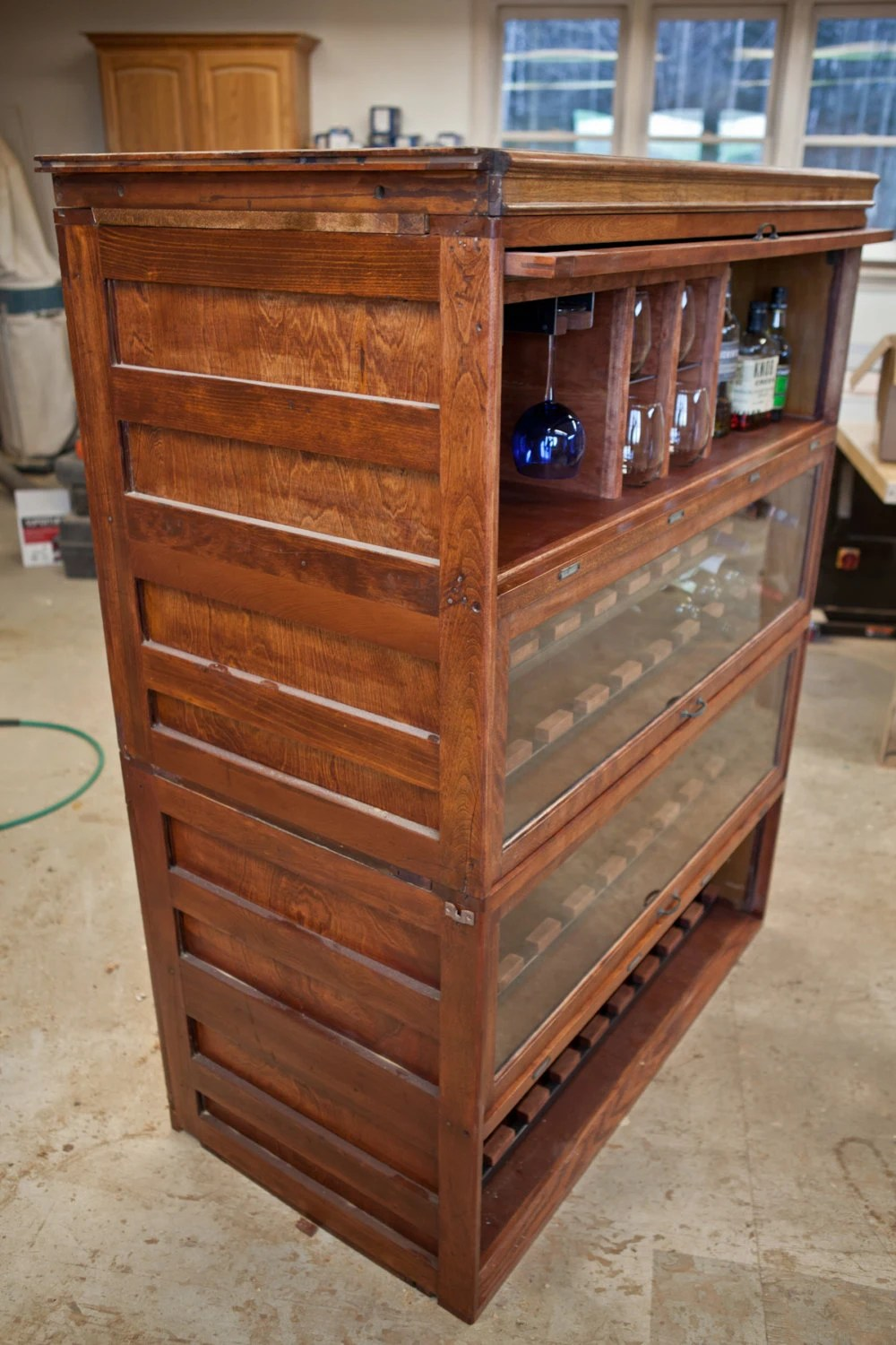 Barrister Bookcase Wine Cabinet