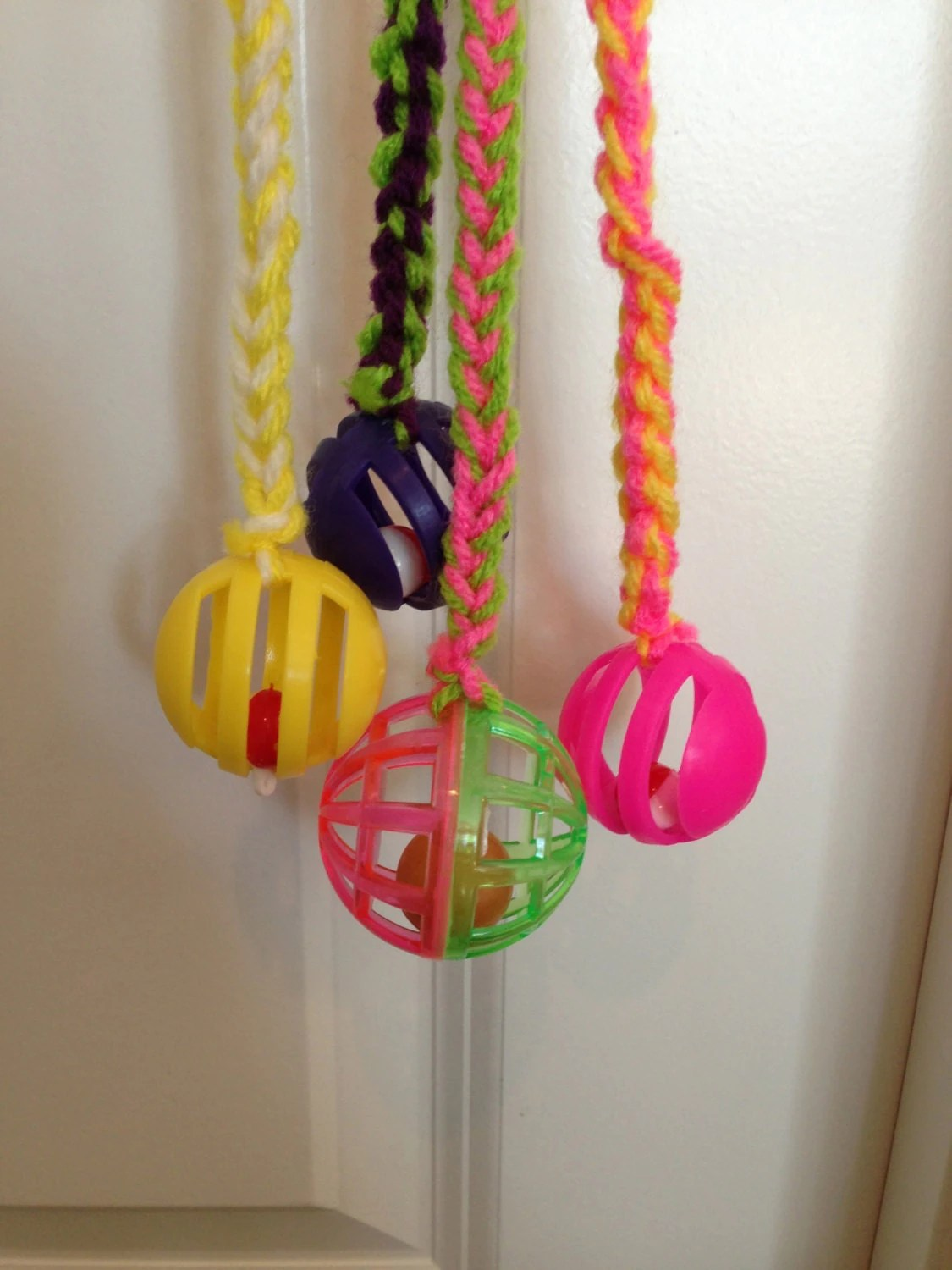 Cat toy Colorful Fun Knitted Cat toy with Bell by
