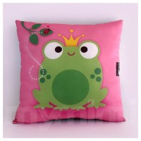 12 x 12 Frog Pillow Decorative Pillow Prince Fairy