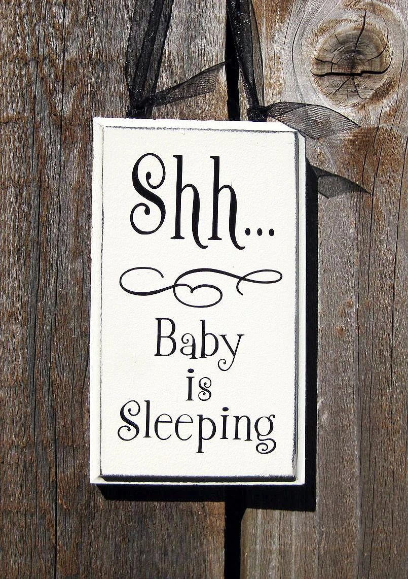 Download Shh... Baby Sleeping Wood Sign by SaidInStoneOnline on Etsy