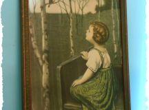 Vintage Spring Song Art Print Framed 1925 by mysparrowsnest